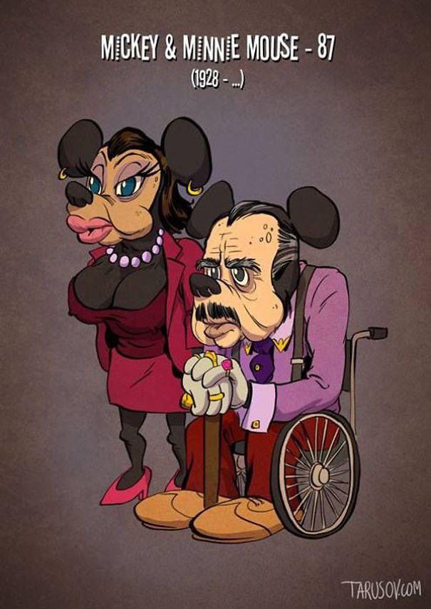 Как бы выглядели персонажи мультфильмов, если бы постарели.