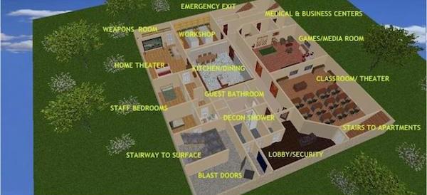 Подземный бункер за 17,5 миллионов долларов