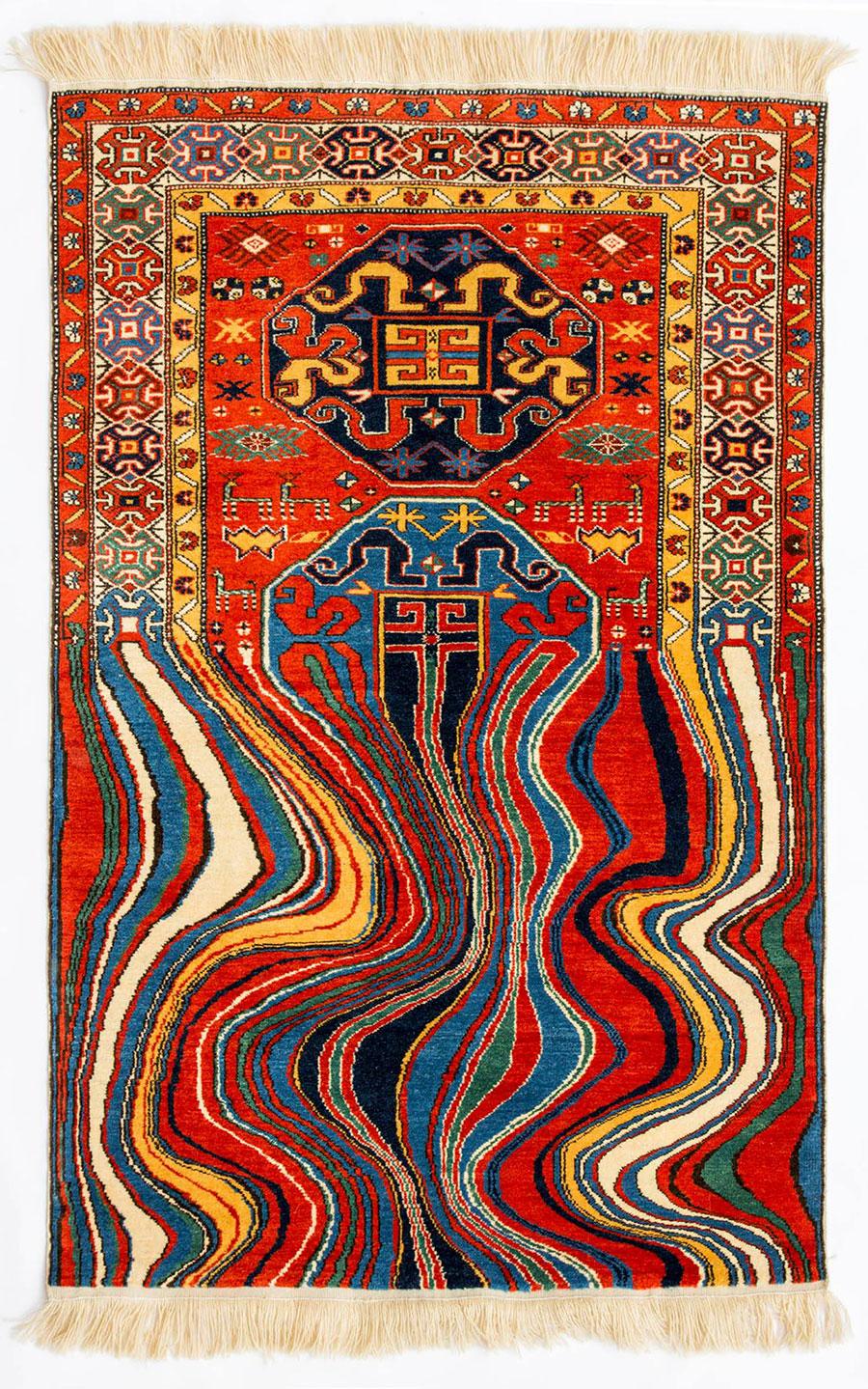 Современные ковры из традиционного азербайджанского текстиля от Фаига Ахмеда.