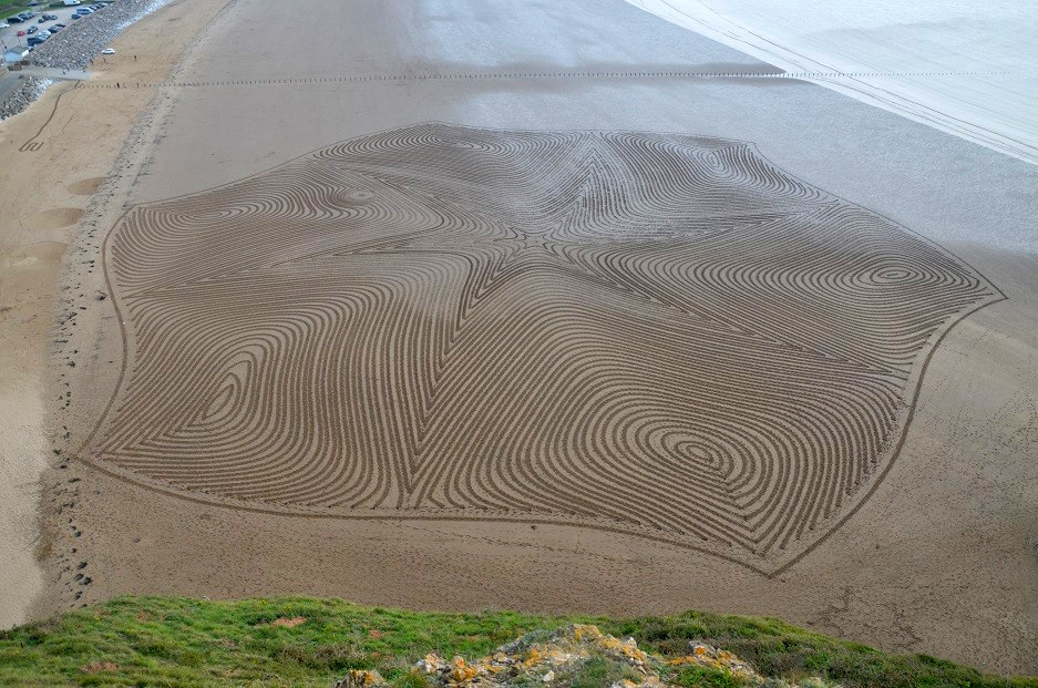 Рисунки на песке от Саймона Бека (Simon Beck).