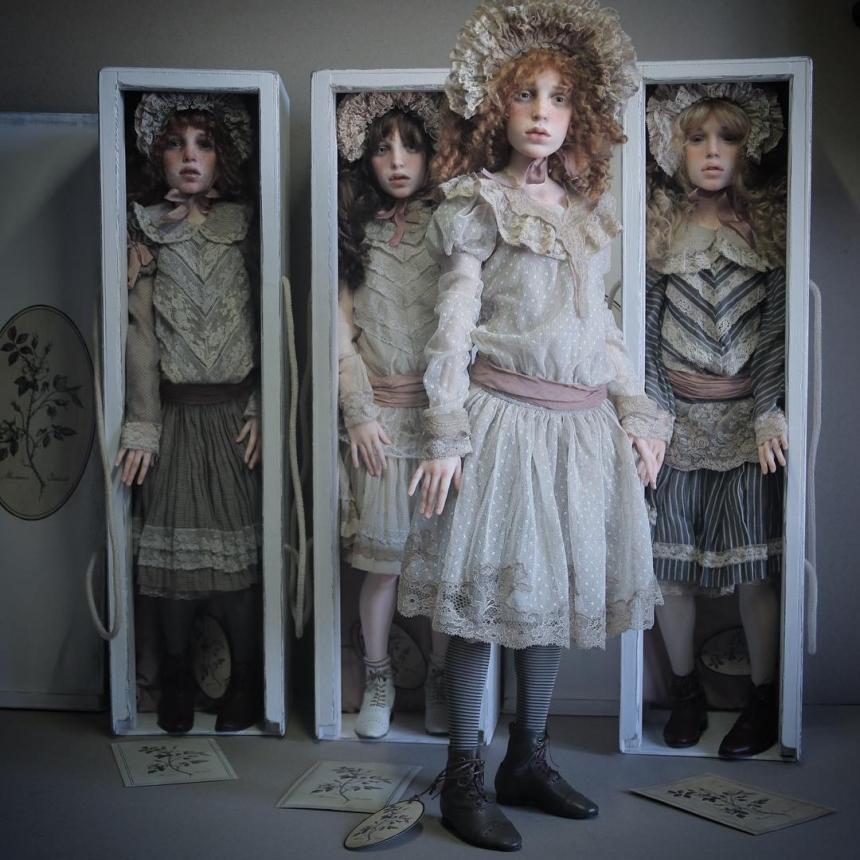Реалистичные куклы от Михаила Зайкова и Ирины Куземиной.