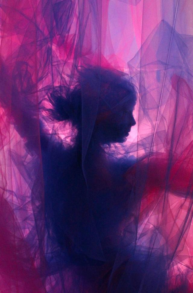3D-произведения искусства тюля Бенджамина Шайна (Benjamin Shine).
