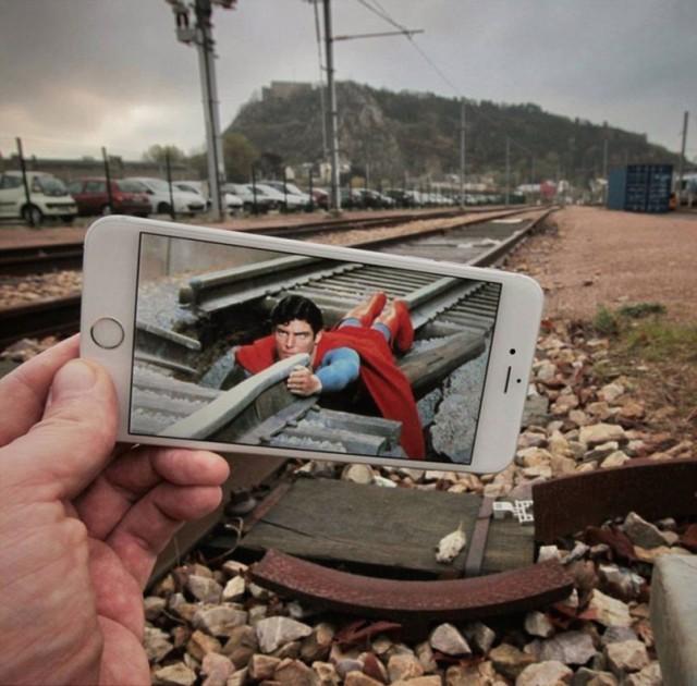 Сцены из фильмов в реальности от Франсуа Дурлена (Francois Dourlen).