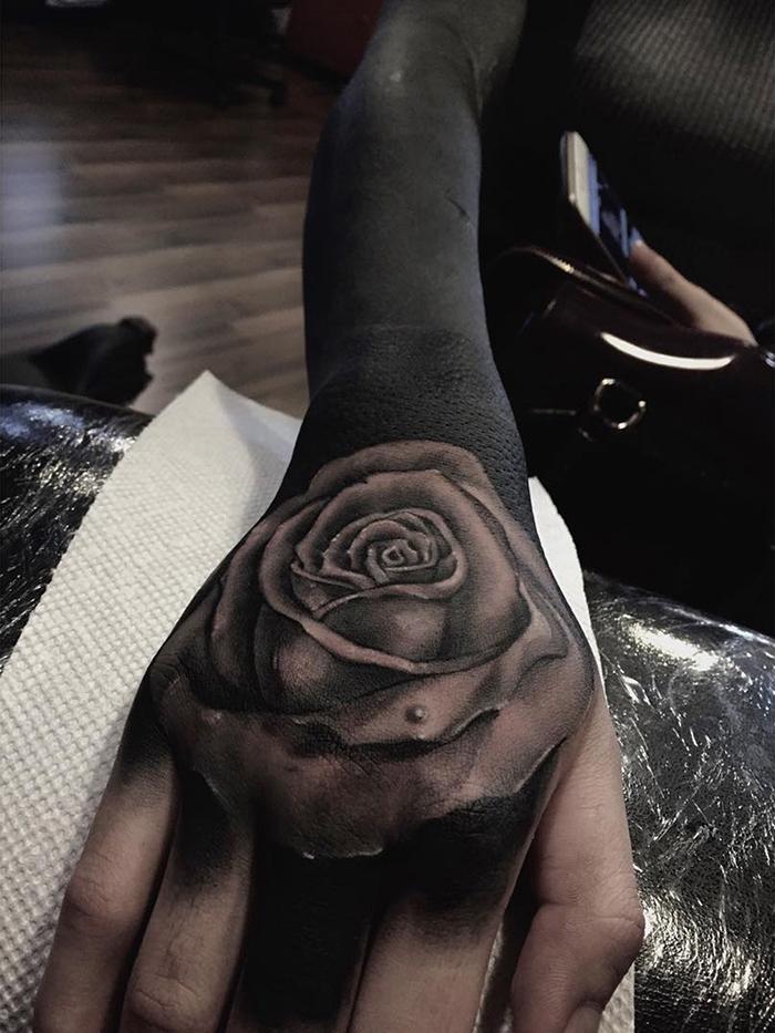 Закрашивание татуировки от Честера Ли (Chester Lee).
