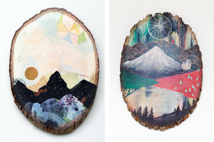 Роспись по дереву от Кэтти МакМюррей (Cathy McMurray).