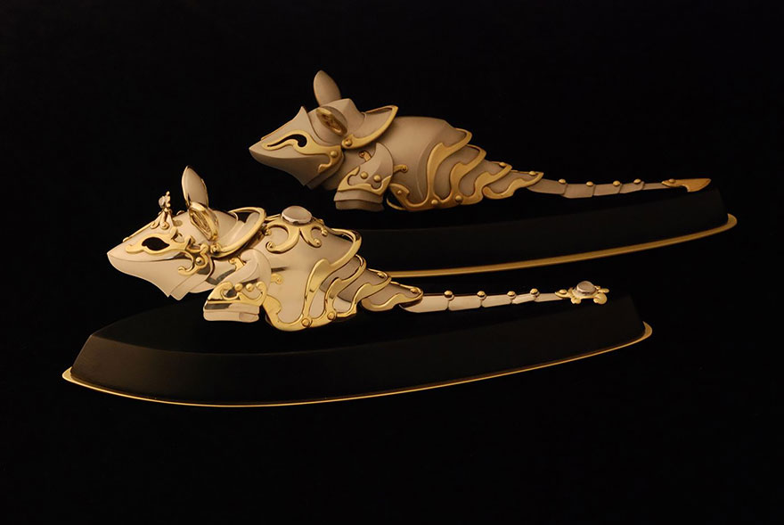 Изысканная броня для кошек и мышей от Джеффа де Бура (Jeff de Boer).