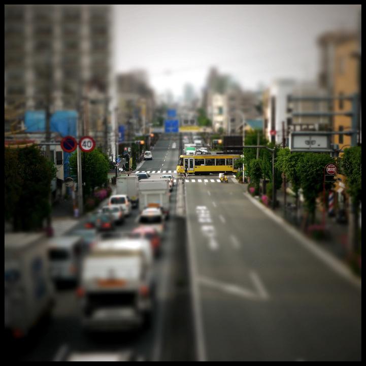 Фотографии Токио с tilt-shift эффектом.
