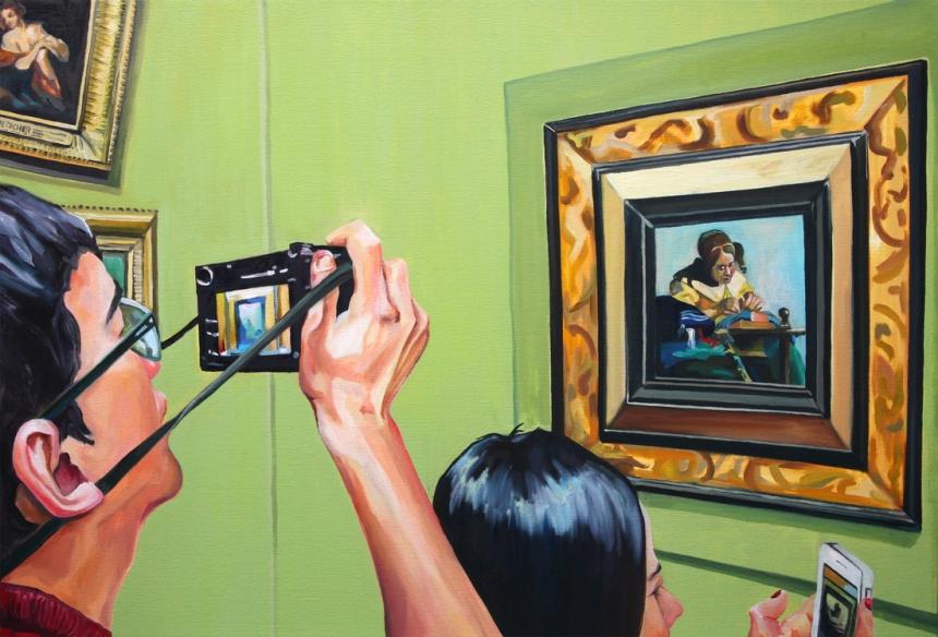 Картины о Лувре от Мишель Рамин (Michelle Ramin).