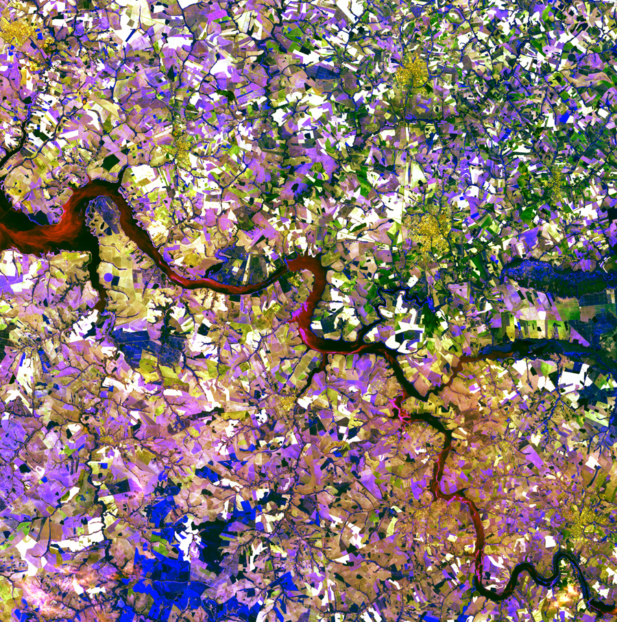 Спутниковые изображения Земли.
