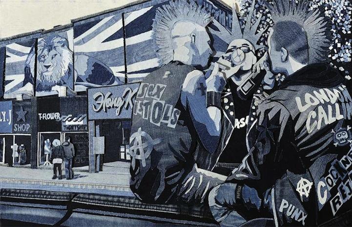 Картины из джинсовой ткани от Яна Берри (Ian Berry).