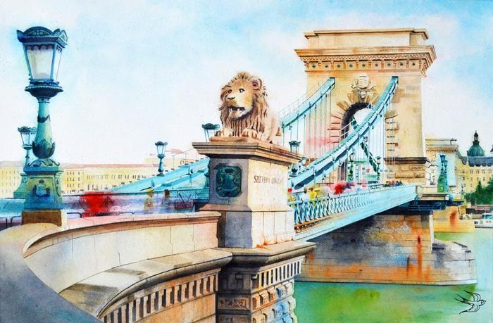 Изящная акварельная живопись от Виктории Кравченко.