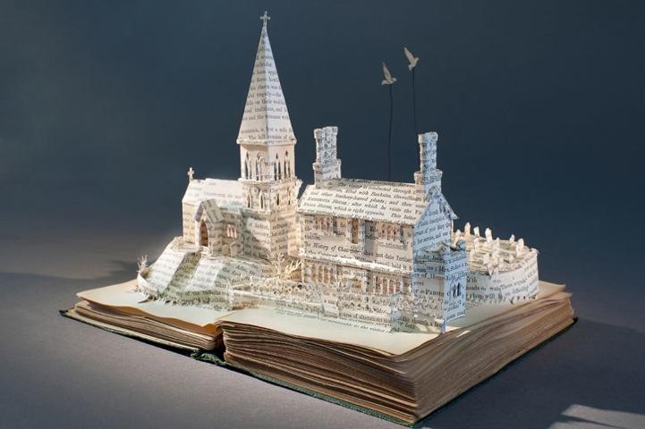 Скульптуры из книг от Сью Блеквелл (Su Blackwell).