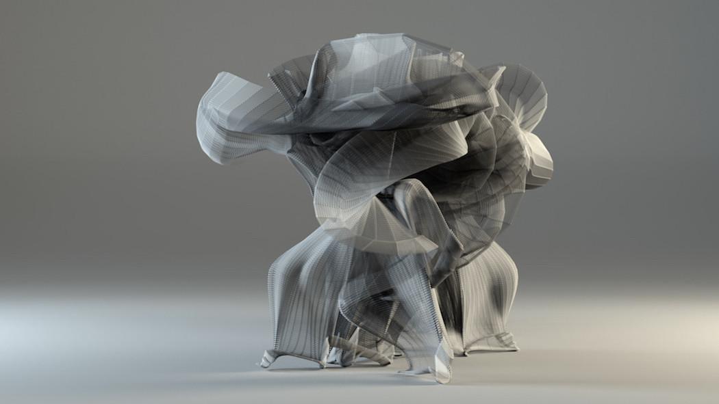 Визуализация невидимых движений в кунг-фу.
