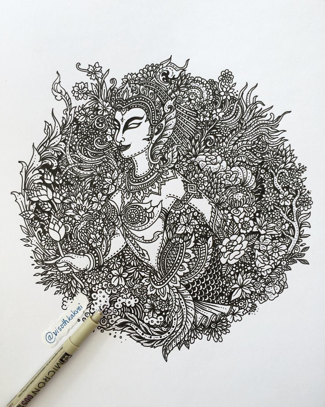 Гипнотические иллюстрации от Висота Каквея (Visoth Kakvei).
