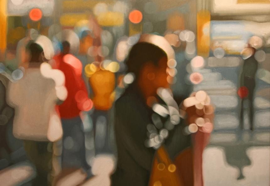 Размытые фотографии в картинах Филиппа Барлоу (Philip Barlow).