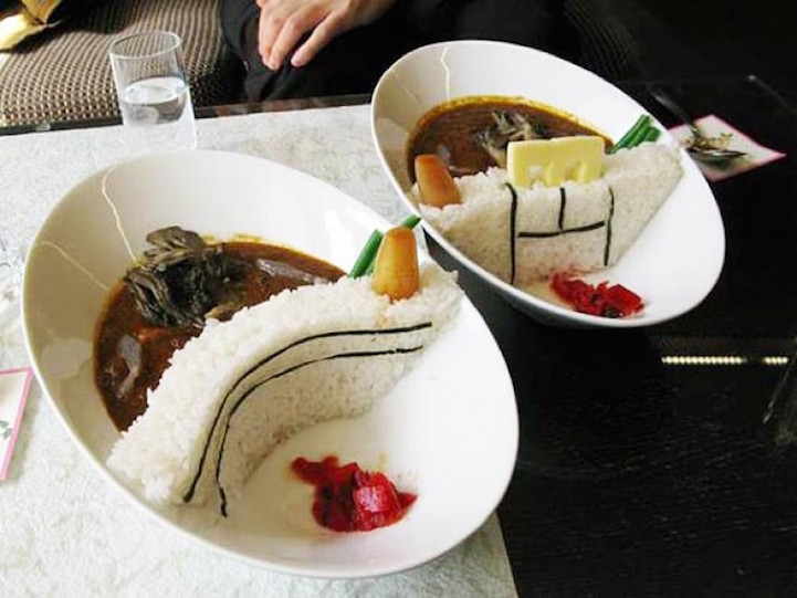 Новый фуд-тренд в Японии: плотина карри.