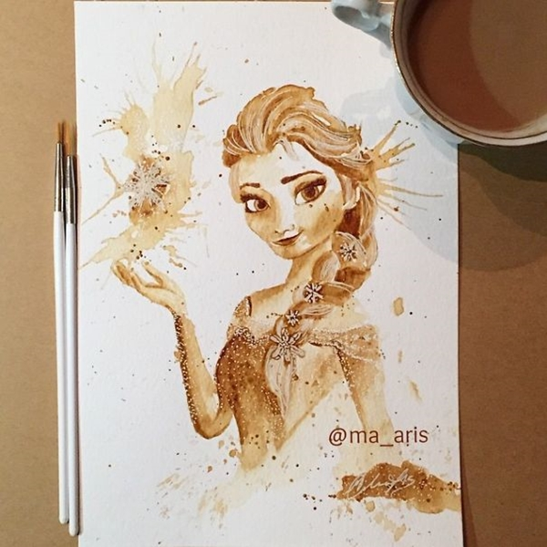 Кофейные иллюстрации от Марии Аристидоу.