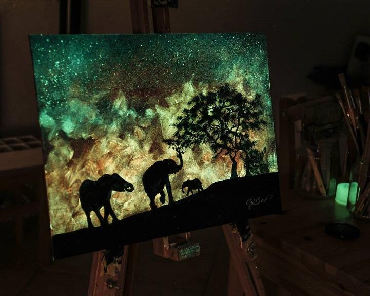 Картины, меняющие цвет, от Кристофоро Скорпинити.
