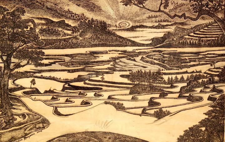 Джордан Манг-Осан (Jordan Mang-osan) использует солнце для создания картин.