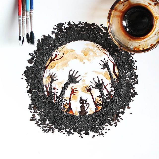 Кофейное искусство от Гидака аль-Низара (Ghidaq al-Nizar).