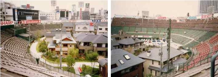 Жилой квартал на поле стадиона Redux в Японии.
