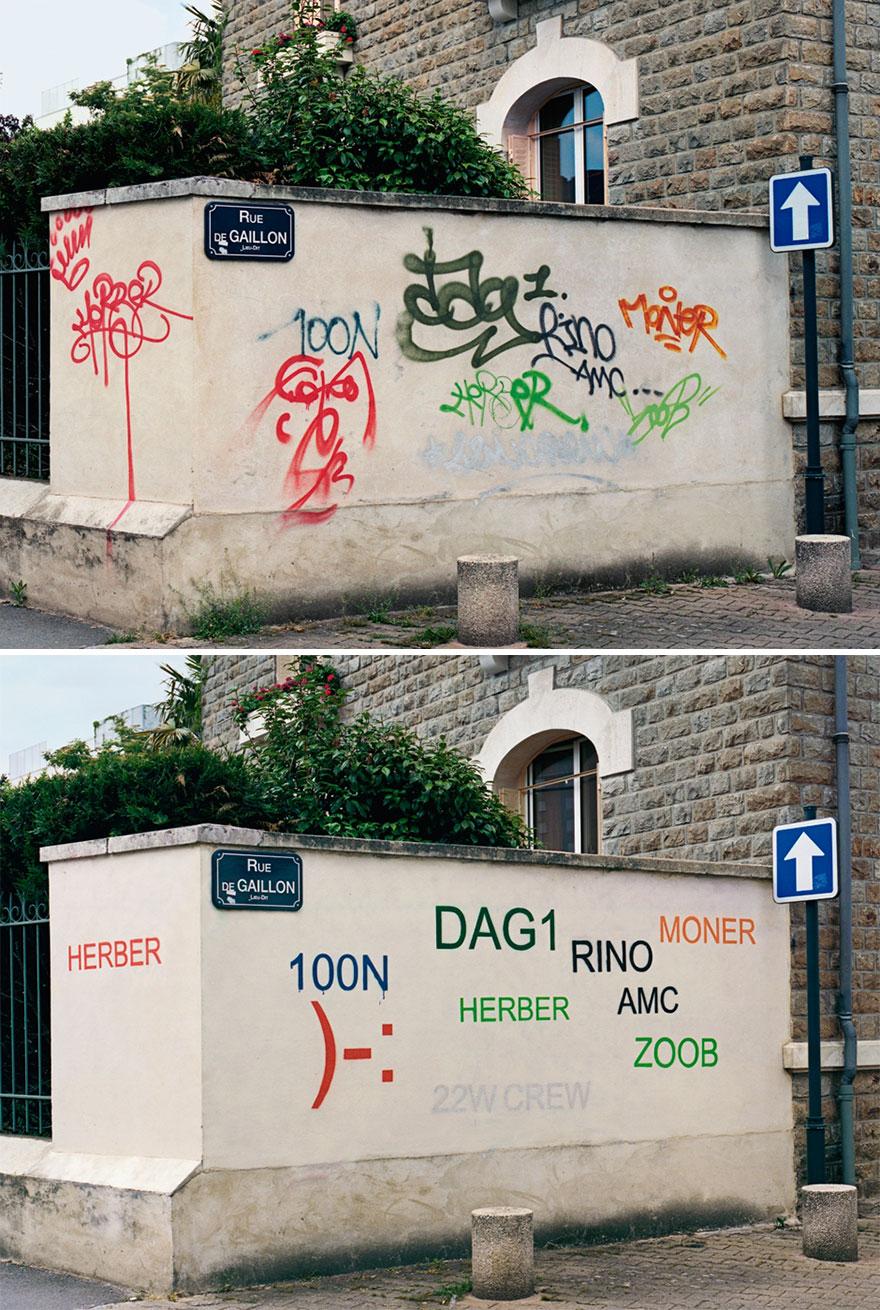 Превращение граффити в аутентичные подписи.