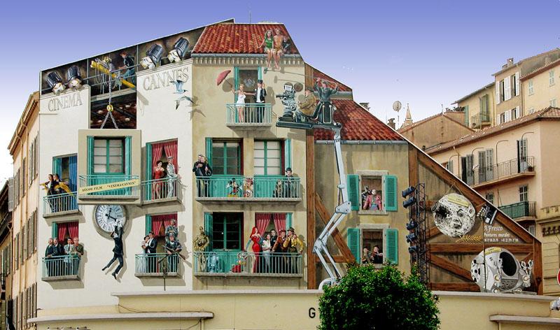Фрески на улицах Франции от Патрика Коммеси (Patrick Commecy).