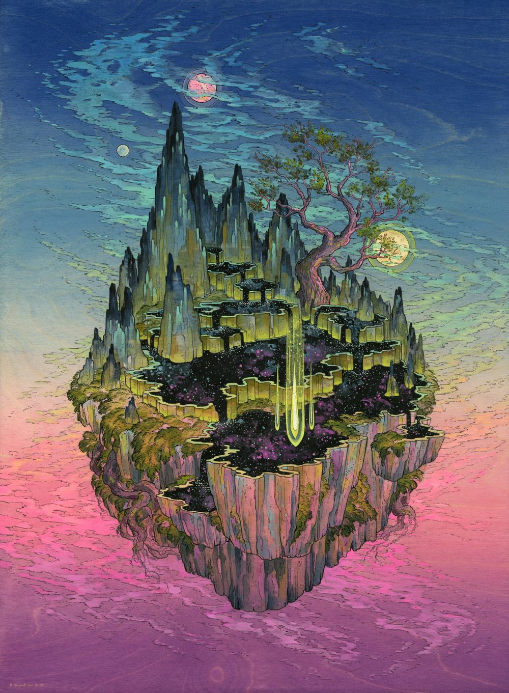 Вымышленные миры в картинах