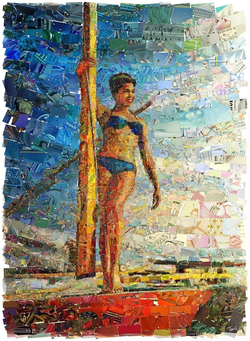 Коллажи из журналов от Хариса Тсевиса