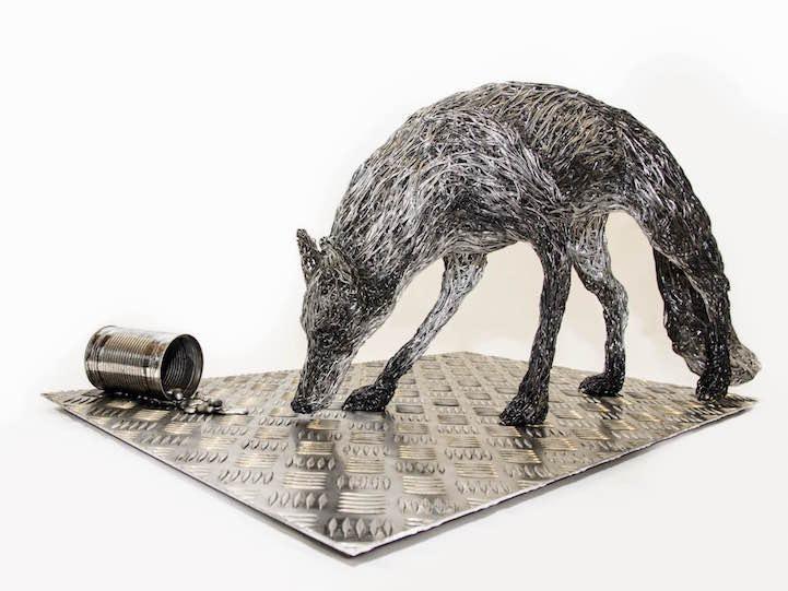 Скульптуры из проволоки от Кэндис Бис