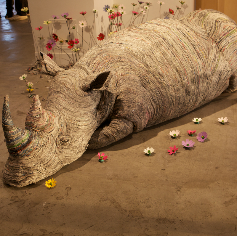 Скульптуры из газет от Чие Хитотсуямы