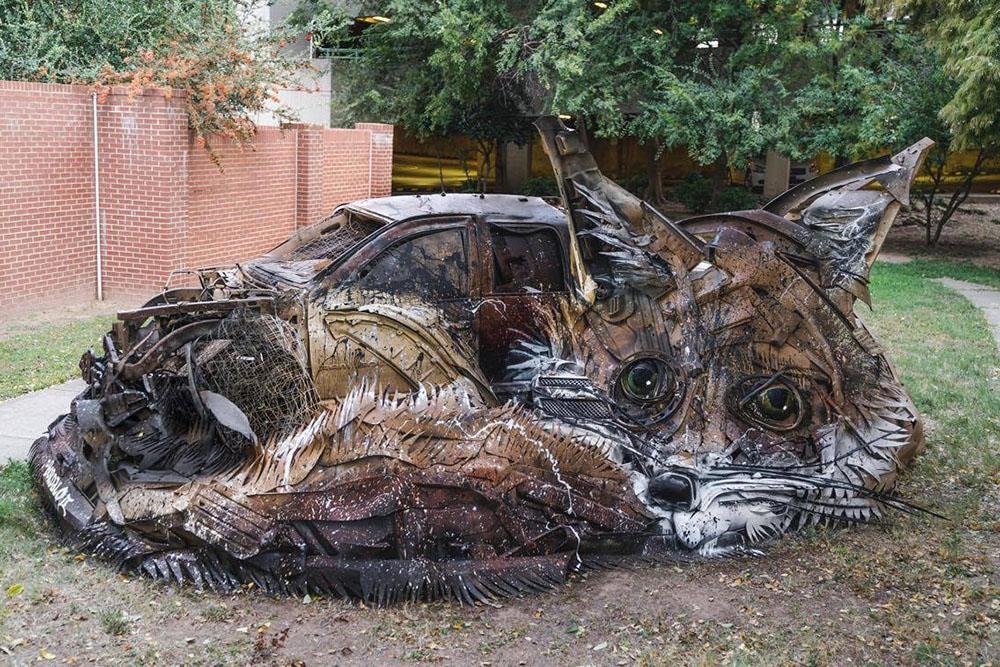 Произведения из отходов от художника Bordalo II