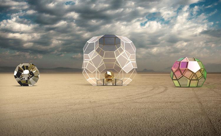 Геометрические скульптуры от дуэта HYBYCOZO
