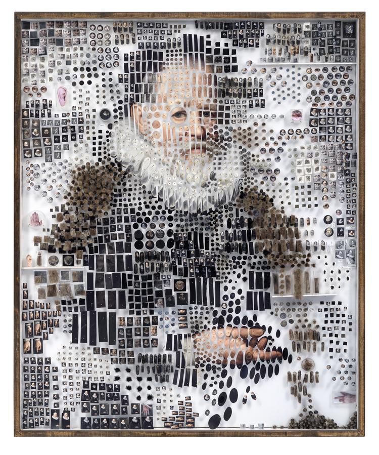 Портреты из тысяч деталей от Майкла Мэйпса