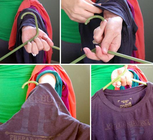 Вешайте одежду на вешалку как гений
