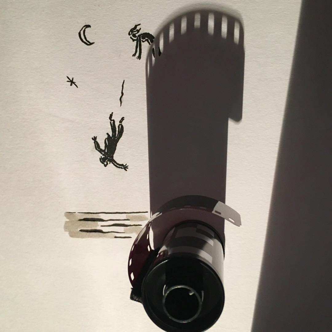 Иллюстрации из теней от Винсента Баля