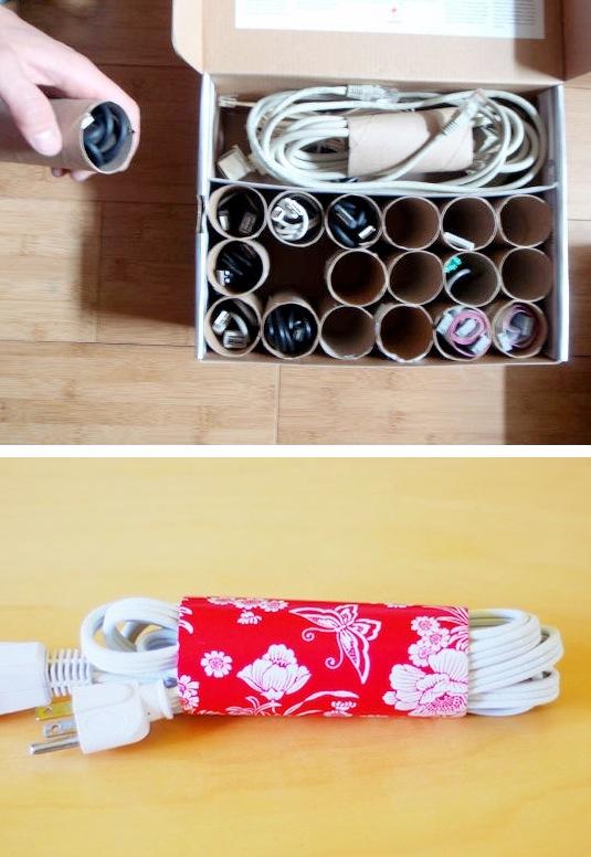 Трубки от туалетной бумаги для шнуров