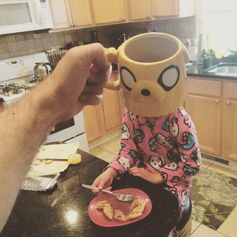 Потрясающе смешные фотографии с завтрака.