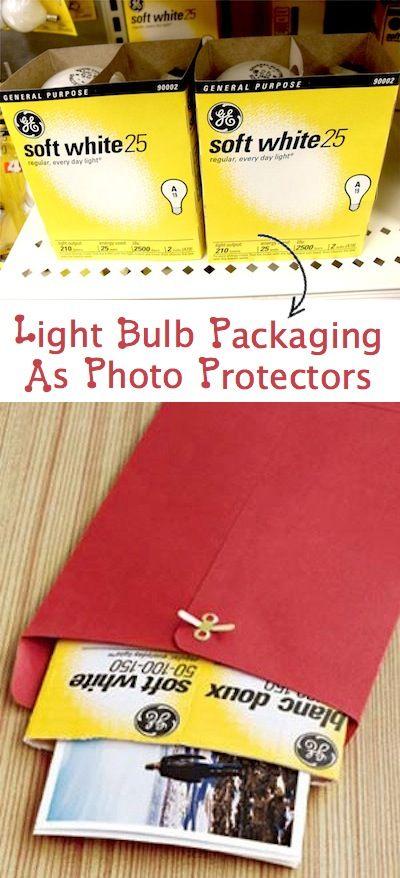 Коробки от лампочек для защиты фотографий
