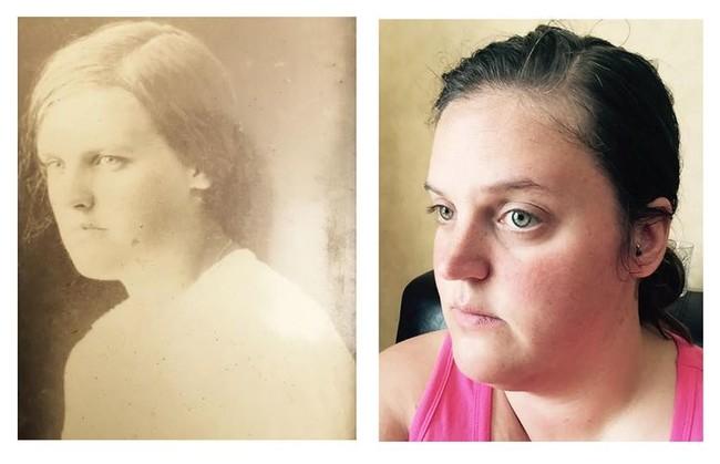 Двоюродная бабушка (1898 г.р.) и внучатая племянница Кэролайн (1981 г.р.)