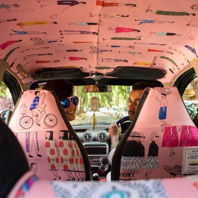 В Мумбаи такси преобразовали в произведения искусства