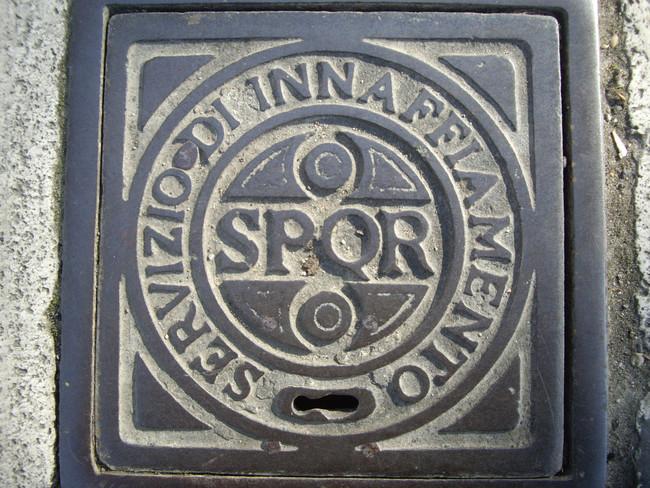 Крышка канализационного люка из Рима