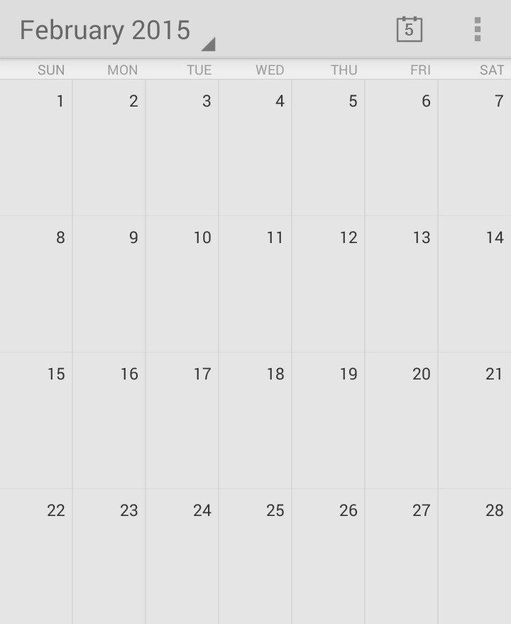 Этот календарь февраля 2015 года