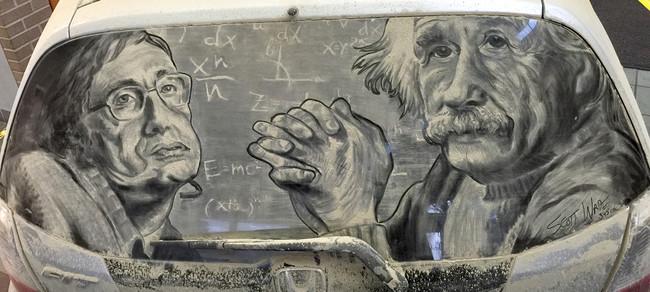 Рисунки на грязных автомобилях от Скотта Уэйда
