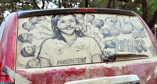Рисунки на грязных автомобилях, Скотт Уэйд, Scott Wade