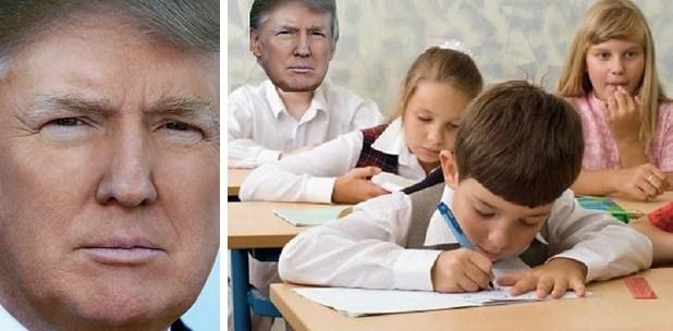 Ребёнок и Дональд Трамп