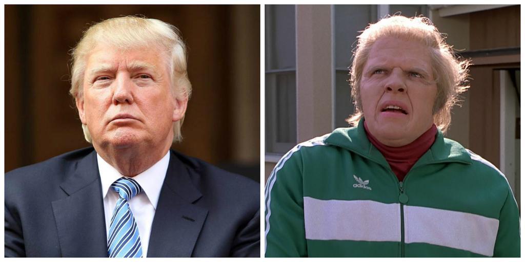 Биф из Назад в будущее и Дональд Трамп