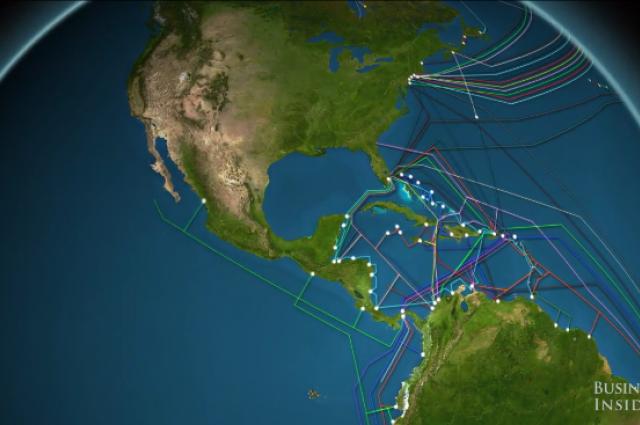 Сколько интернет-кабелей под океаном? Наглядное видео