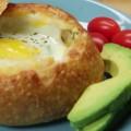 Рецепт завтрака из хлебного шарика с начинкой