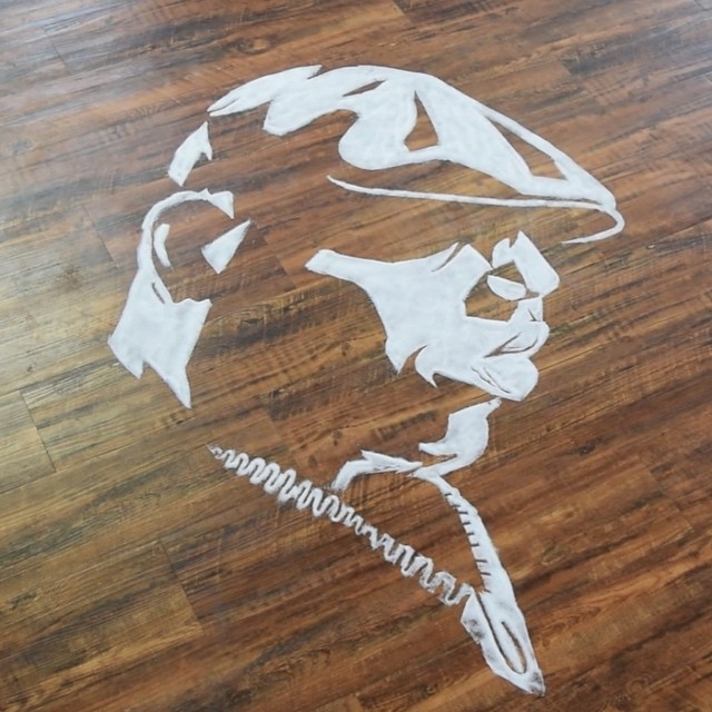 Портрет Рэпера Notorious BIG из соли от Роба Феррела
